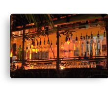 The Back Side of the Bar... Street View on Collins Ave in Miami Beach Canvas Print