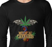 Cannabis Caduceus from Valxart.com  Long Sleeve T-Shirt