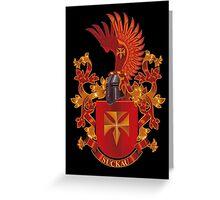 Suckau Coat of Arms Heraldry Germany Greeting Card