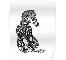Zebra Tree Poster