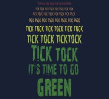 Tick Tock, Tick Tock It's Time To Go Green One Piece - Long Sleeve