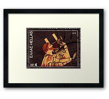 Orpheus Postage Stamp Framed Print