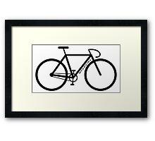 Bike Silhouette Framed Print