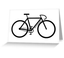 Bike Silhouette Greeting Card