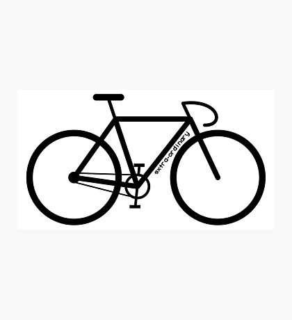 Bike Silhouette Photographic Print