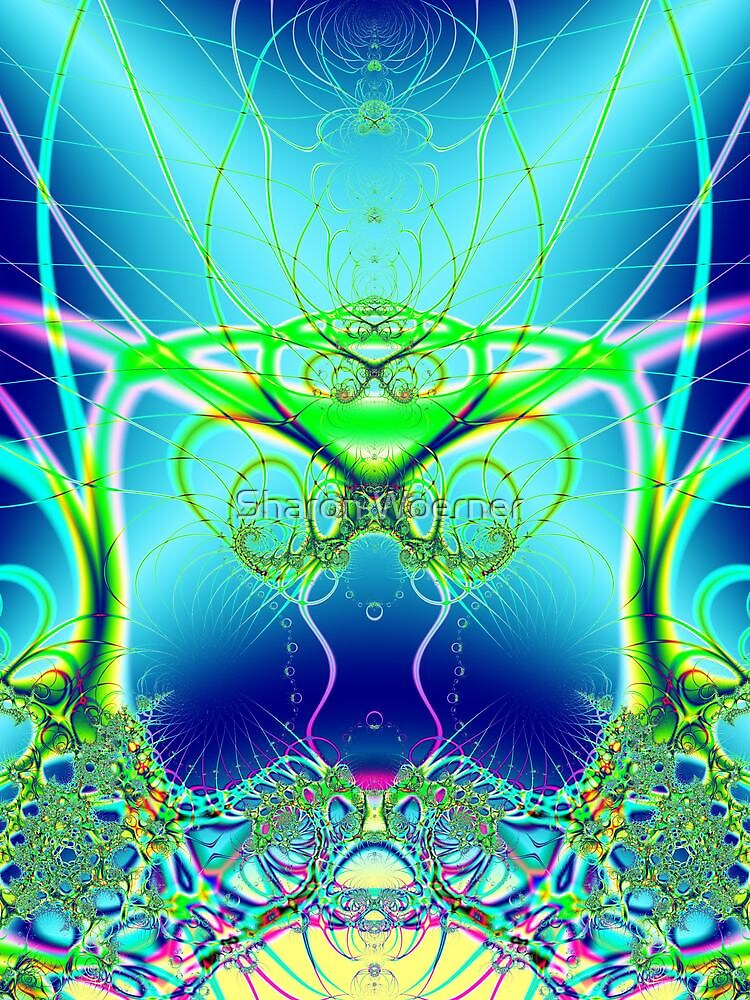 Water World Fractal by Sharon Woerner