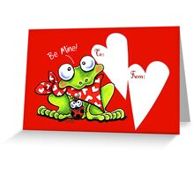 Froggy Be Mine Valentine Greeting Card