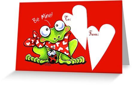 Froggy Be Mine Valentine by offleashart