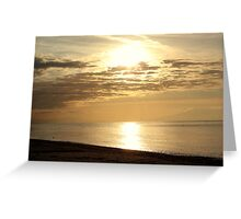 Another sunset in Chalkidiki.  Greeting Card