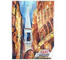 Paris Taxi Parisien  Poster