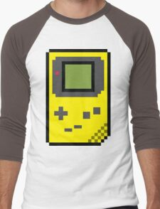 8 bit Gameboy Classic Yellow Men's Baseball ¾ T-Shirt