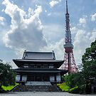 Tokyo Tower as seen from Zj-ji by Chris Silva