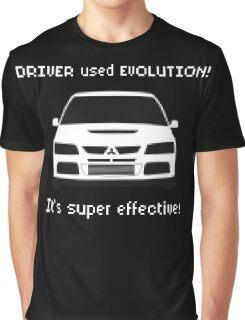 Mitsubishi Evo used Evolution It was Super Effective! Pokemon Gag Sticker / Tee - White Graphic T-Shirt