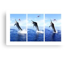 Marlin Canvas or Print - Giant Black Marlin Series Canvas Print