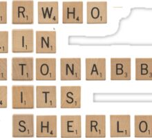 British Telly Scrabble Sticker
