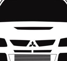 'Ringlands? We Dont Have Those Problems Here' Mitsubishi Evo Gag Design Sticker / Tee Sticker