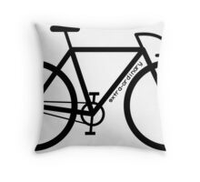 Bike Silhouette Throw Pillow