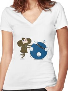 Allons-y Katamari Women's Fitted V-Neck T-Shirt