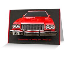 Driving Test Card Greeting Card