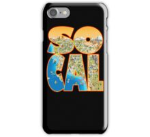 So Cal Cartoon Map Text Graphic iPhone Case/Skin