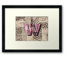 Motivation by W: $4.95 Framed Print