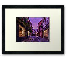 The Shambles York - HDR Framed Print