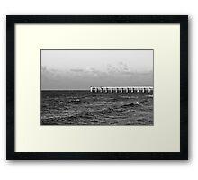 b&w navarre beach, FL Framed Print