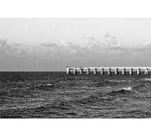 b&w navarre beach, FL Photographic Print
