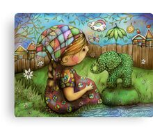 There's an Elephant in my Garden Canvas Print