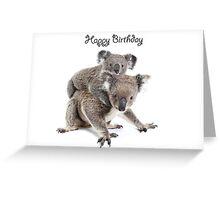 A koala Happy Birthday 2L Greeting Card