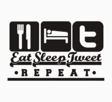 Eat,Sleep,Tweet,Repeat Kids Clothes
