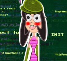 Nerds Rule - VFP Programmer Girl Sticker