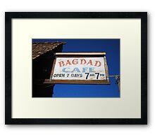 Route 66 - Bagdad Cafe Framed Print