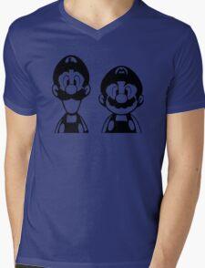 Mario & Luigi Mens V-Neck T-Shirt