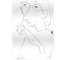 Jean with a Glass of Water Poster