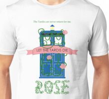 Rose and the Old Blue Box Unisex T-Shirt