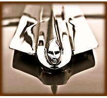 1955 Cadillac Hood Ornament Photographic Print