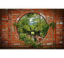 A Window to the Garden Photographic Print