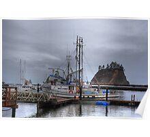 Misty harbour Poster