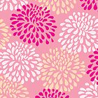Chrysanthemums in Pink by Leona Hussey