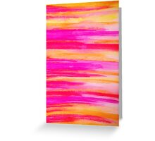 Welcome to Funky Town - Disco Inferno Dance Rainbow Stripes Abstract Watercolor Painting Greeting Card