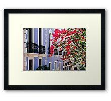 Colorful Balconies of Old San Juan, Puerto Rico Framed Print