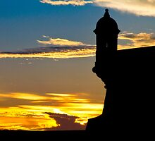El Morro Fort at Sunset by George Oze