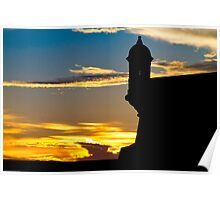 El Morro Fort at Sunset Poster