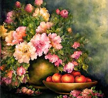 PEONIES AND ORANGES by Mary  Lawson