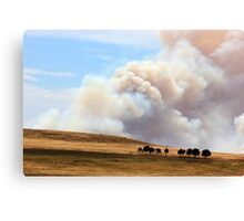 Yarrabin fire 12k's from Cooma NSW  Canvas Print