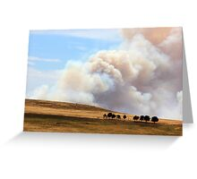 Yarrabin fire 12k's from Cooma NSW  Greeting Card