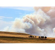Yarrabin fire 12k's from Cooma NSW  Photographic Print