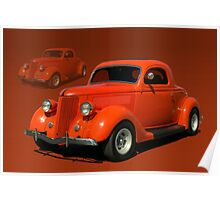 1936 Ford Coupe Hot Rod Poster