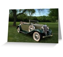 1932 DeSoto SC Custom Convertible Greeting Card